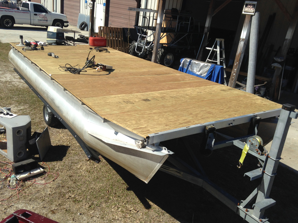 Redoing Decking On A Pontoon Boat Ajs Fabrication